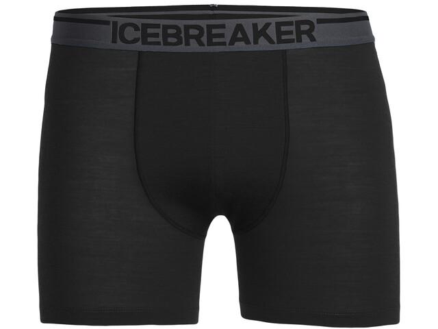 Icebreaker Anatomica Boxers Hombre, negro
